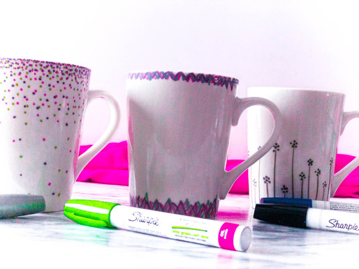 Sharpie Mugs | DIY Gifts for Teachers | Create Your Own Coffee Cup | Cheap Gift Ideas for Adults