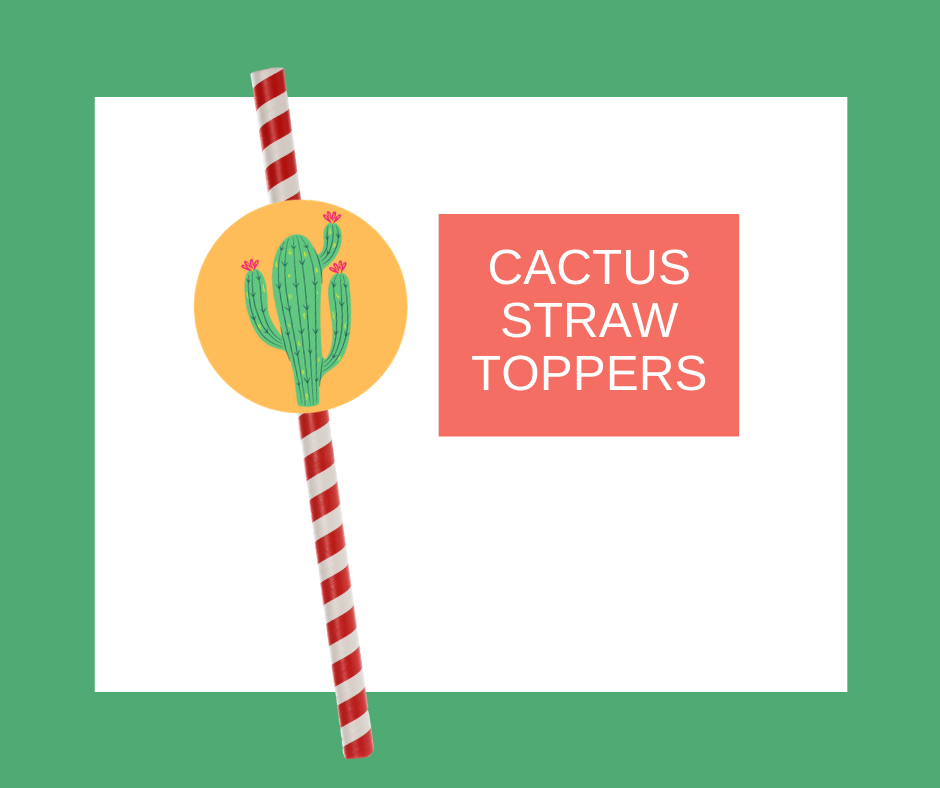 free printable fiesta straw toppers