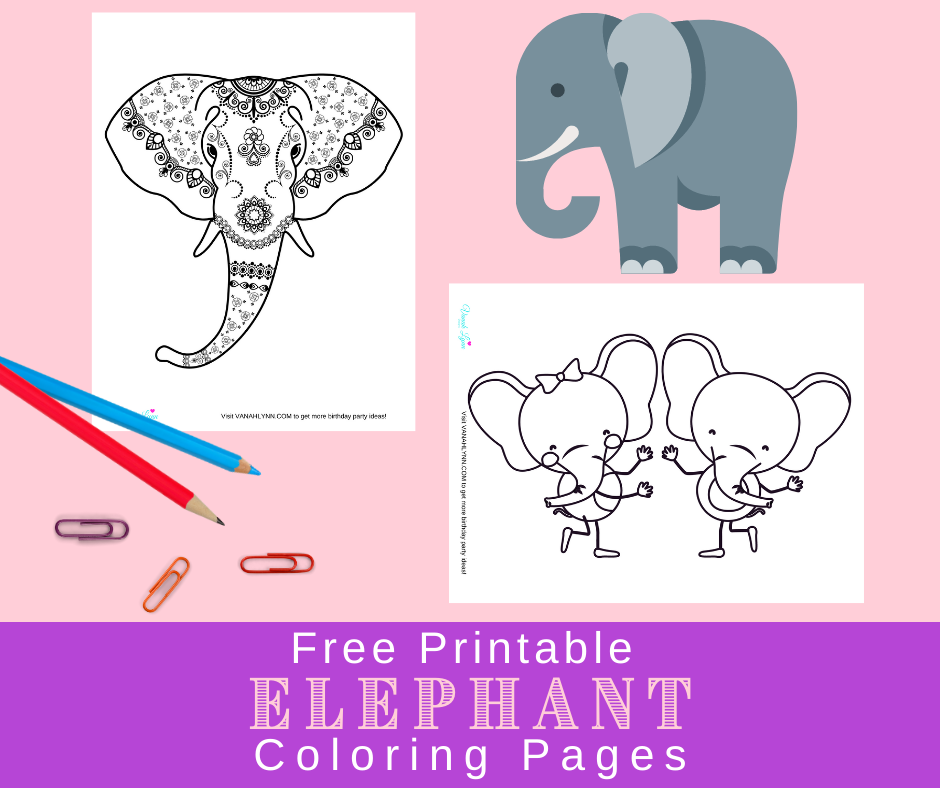 elephant coloring sheets for an elephant birthday party