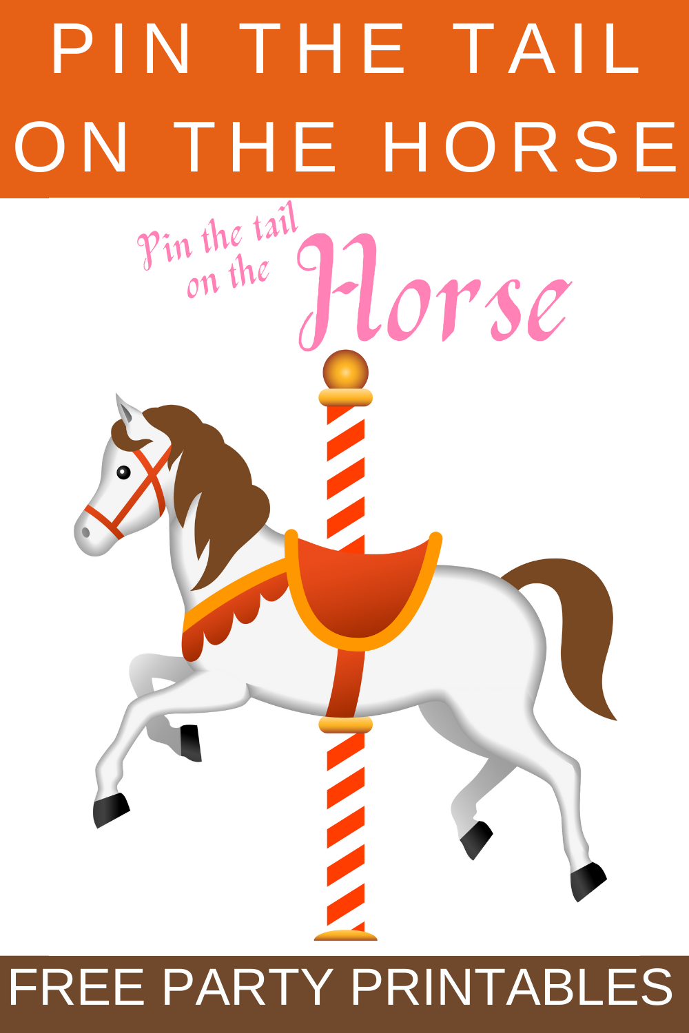 pin the tail on the horse birthday party game