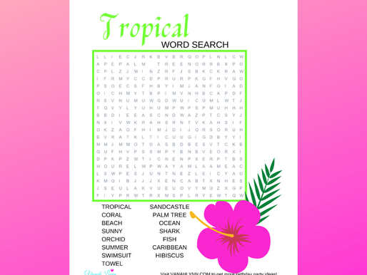 FREE Tropical Word Search - Hawaii Word Puzzle For Kids