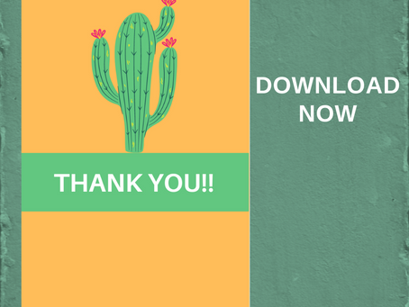 Fiesta Thank You Card | Free Printable Cactus Thank You Note | DIY Fiesta Birthday Party Ideas