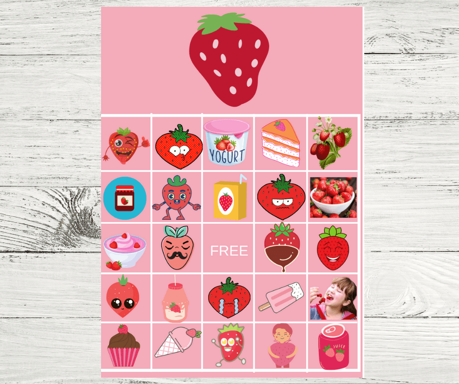 strawberry bingo cards