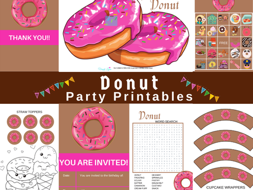 FREE Donut Birthday Printables - Everything you need for the perfect party!!