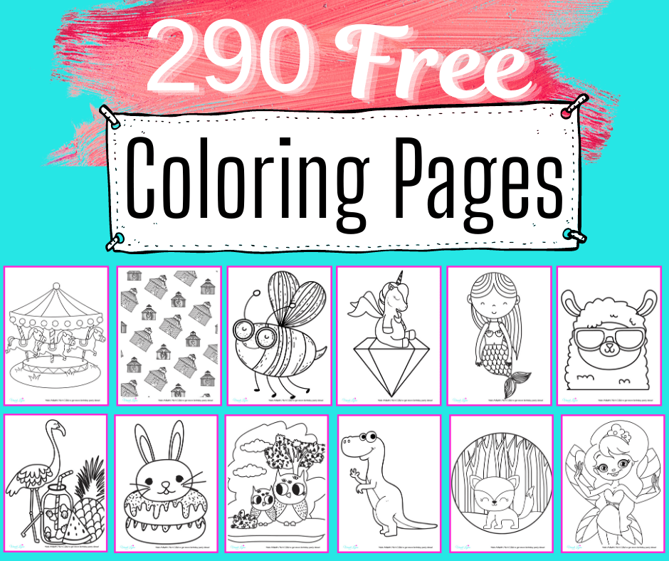 all coloring pages- free 290 page set