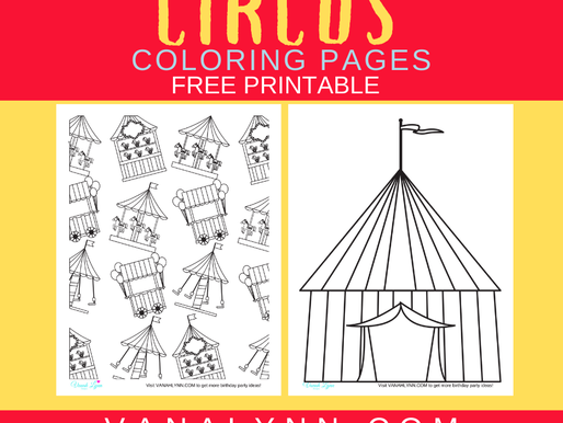 10 Coloring Pages, Circus Free Printables