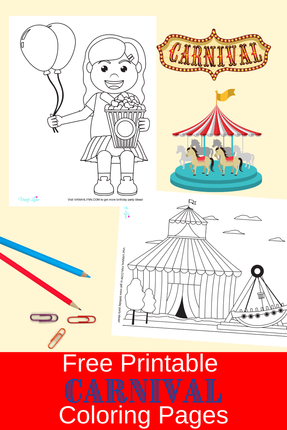 carnival coloring pages for kids
