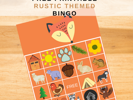 Rustic Bingo | Rustic Themed Party Game Idea | Rustic Birthday Party Activity