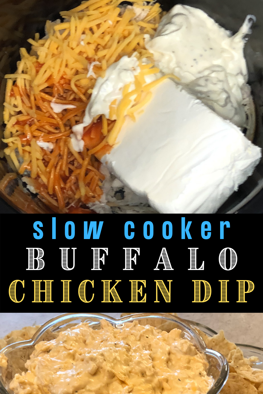 This slow cooker buffalo chicken dip is so fast and easy anyone can make it with 5 simple ingredients. If you need party food appetizers pair this dip with tortilla chips or celery sticks. I also like to use this dip for pot luck side dishes. Just heat it up at the party or warm it up at home before hand. To see this recipe or any of my other party ideas visit my blog at VanahLynn.com. You will find free printable invitations, unicorn centerpieces, and birthday cake ideas.