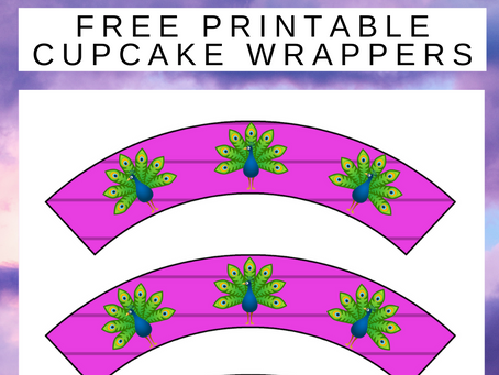 Free Printable Peacock Cupcake Wrappers