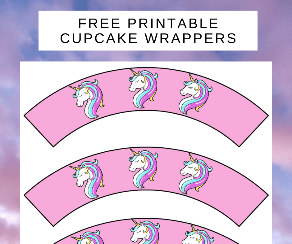 easy unicorn party ideas: cupcake wrappers