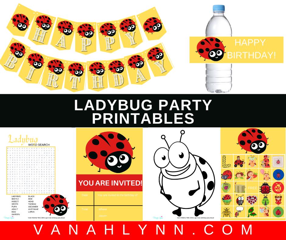 free printable ladybug party kit