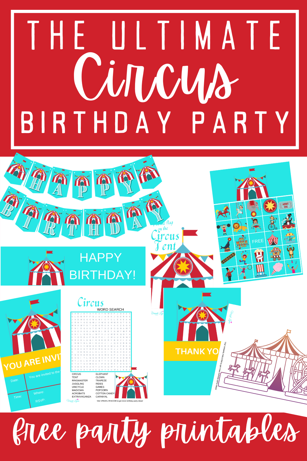circus 1st birthday party ideas for kids