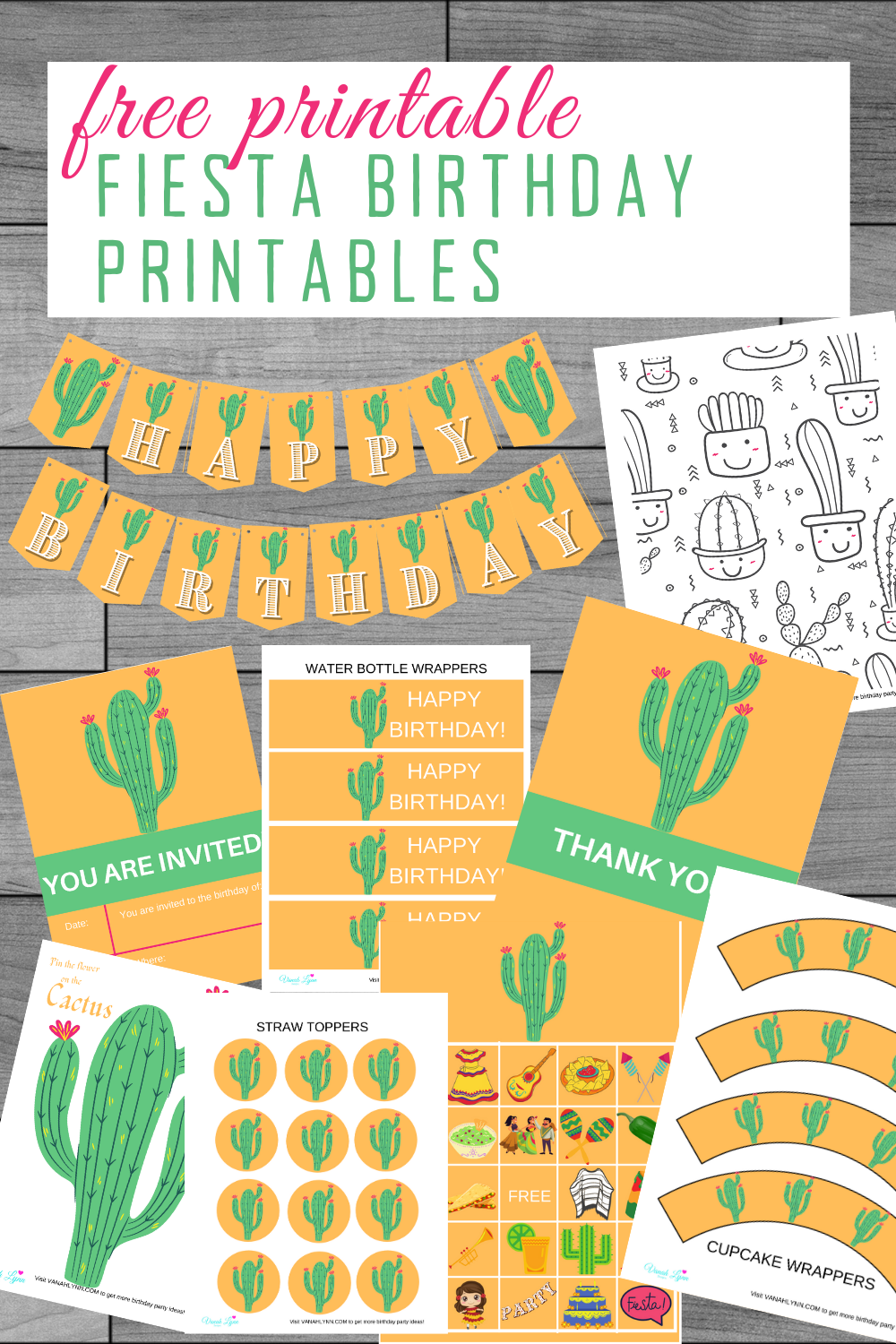 kids birthday party ideas and free printable decorations