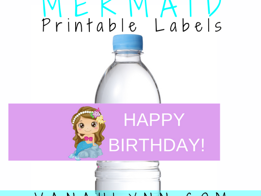 Mermaid Water Bottle Label | Free Printable Mermaid Birthday Party Ideas | DIY Mermaid Party Décor