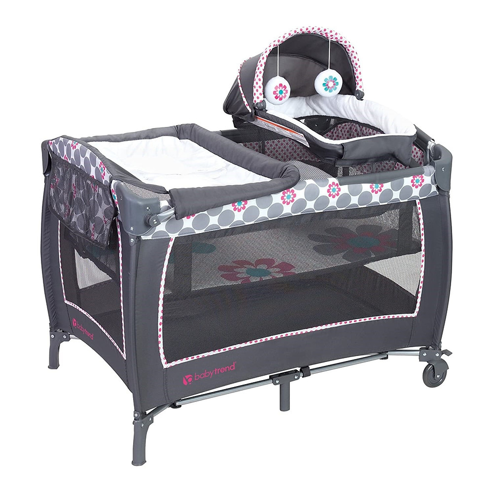 list of things you need for a new baby: portable crib