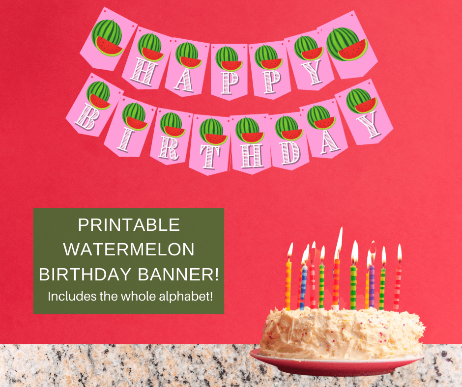 watermelon birthday party decorations