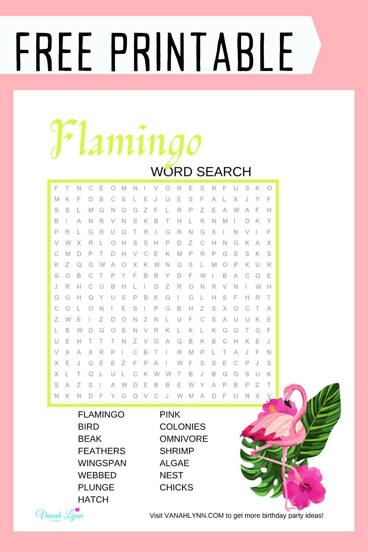 tropical flamingo birthday party game ideas