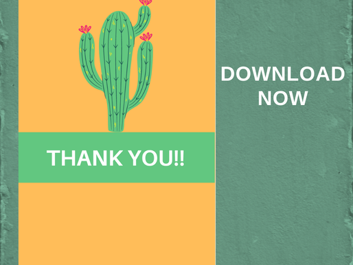 FREE Cute Thank You Cards - Cactus Thank You Note Printable