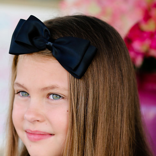 Big black bow on a headband