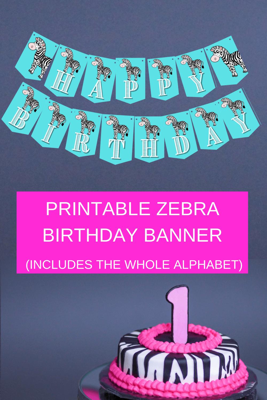zebra themed birthday party