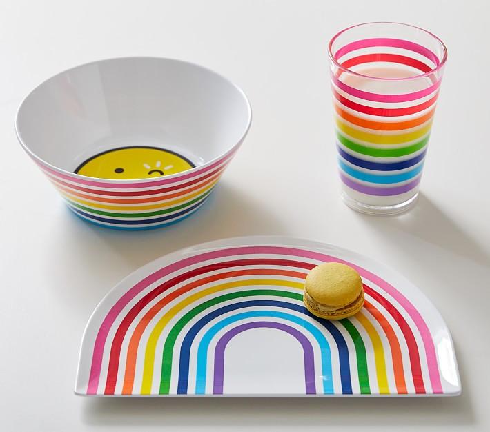 Rainbow dinner accessories