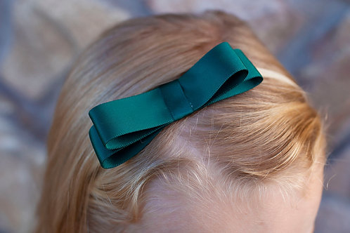 kids birthday party ideas, hunter green hair bow for girl