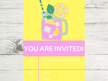 Pink Lemonade Invite | Free Printable Pink Lemonade Invitation | Pink Lemonade Birthday Party Ideas