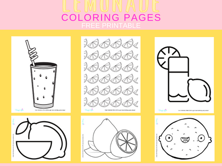 Lemonade Coloring Pages | Free Printable Lemonade Activity Sheets | Lemonade Birthday Party Ideas