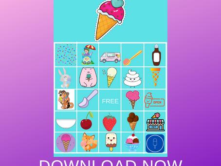 Ice Cream Bingo | Ice Cream Themed Party Game Idea | Ice Cream Birthday Party Activity