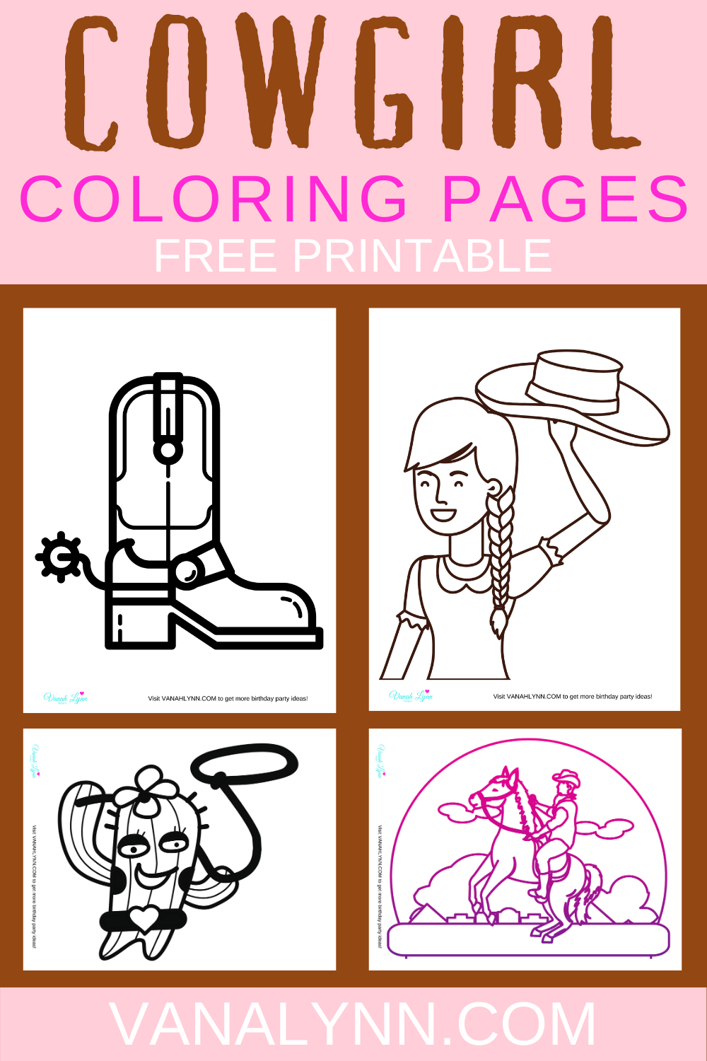 western cowgirl coloring pages