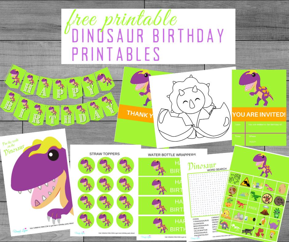 free printable dinosaur party kit