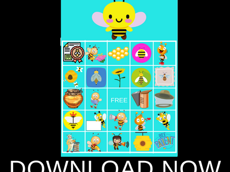 Bumble Bee Themed Bingo | Bumble Bee Birthday Party Games | Bumble Bee Party Activities