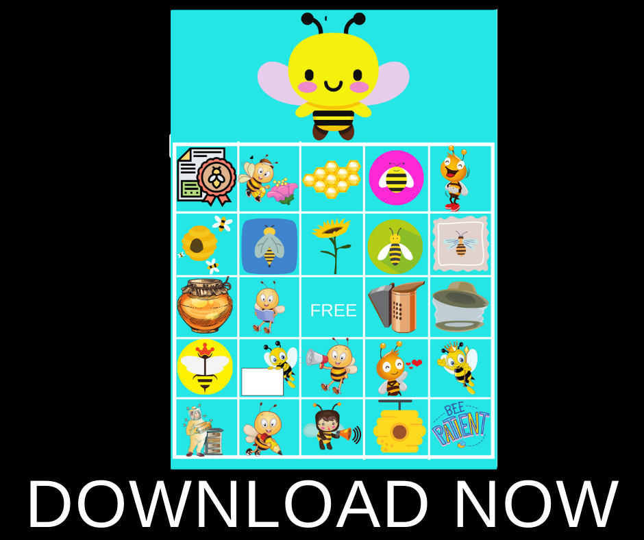 bumble bee themed bingo game for party