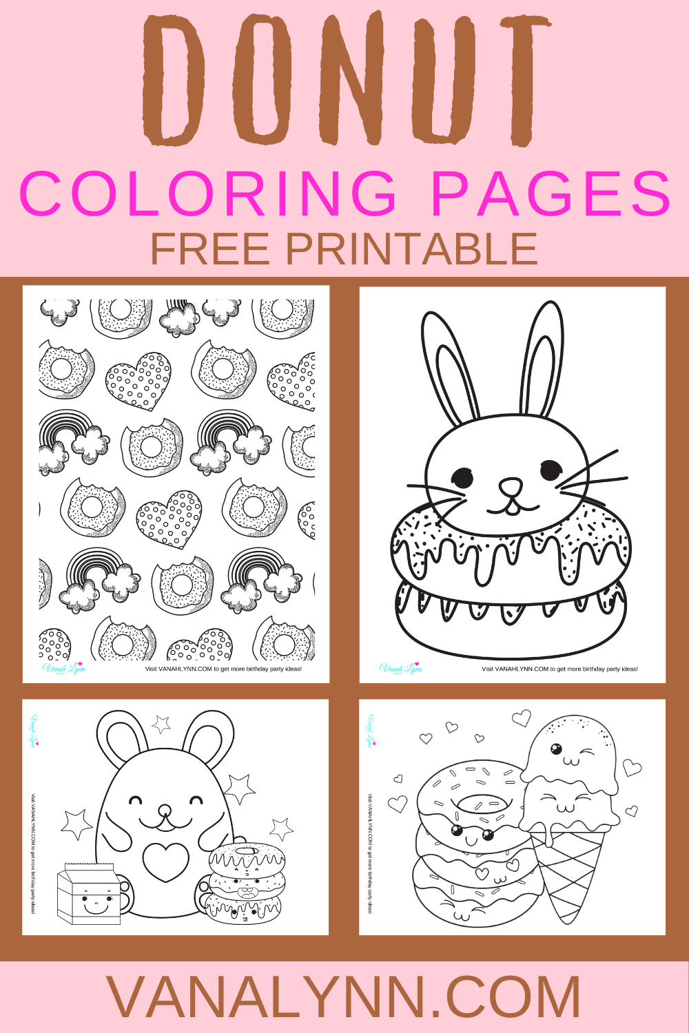 donut coloring pages free printable for toddlers