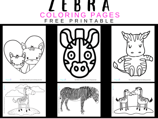 10 FREE Printable Coloring Pages of Zebras That are So Cute You Must See Them