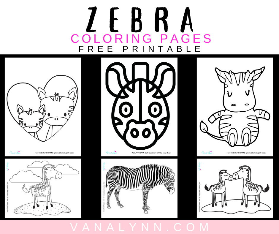 free printable coloring pages of zebras