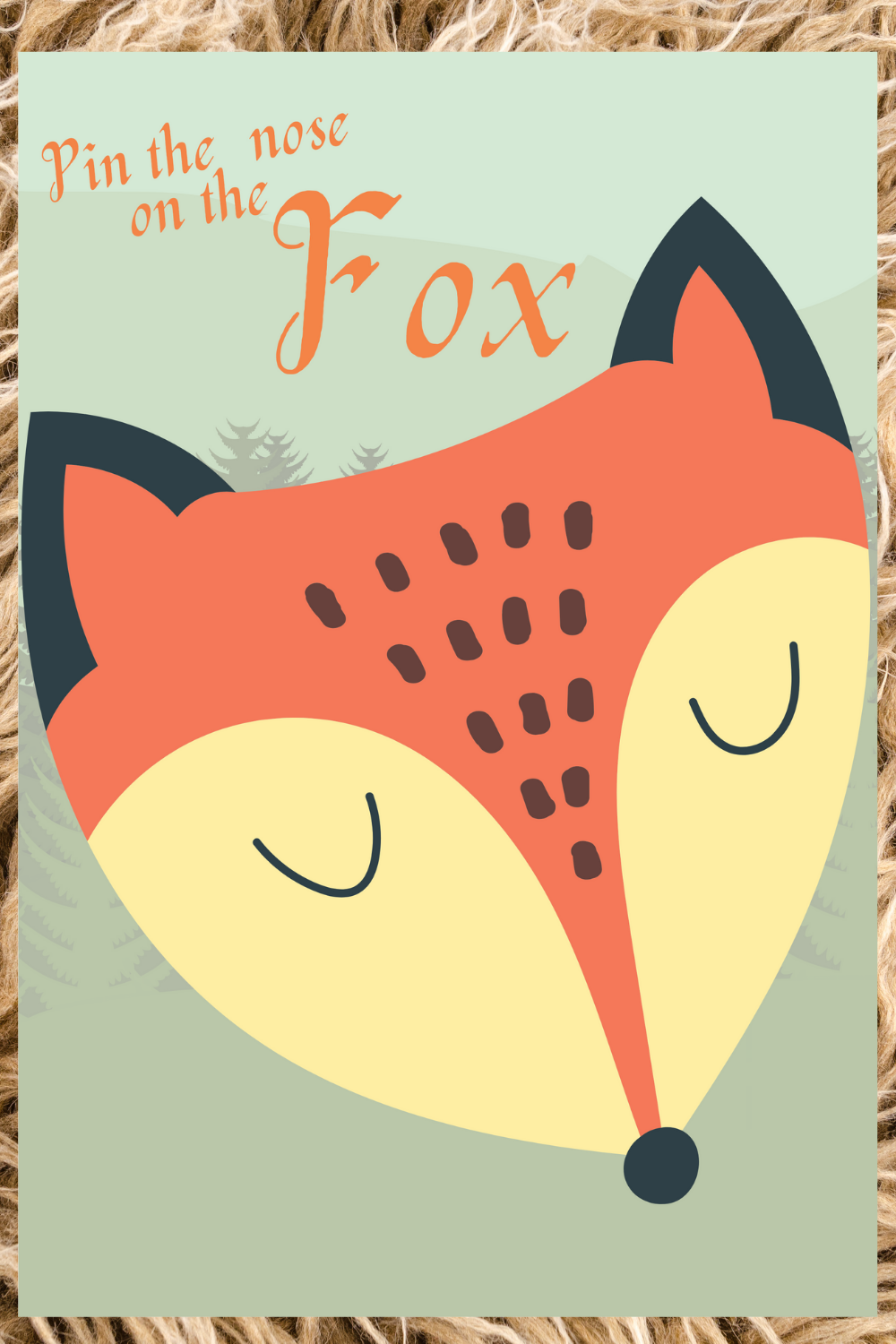 free printable fox birthday party games for kids