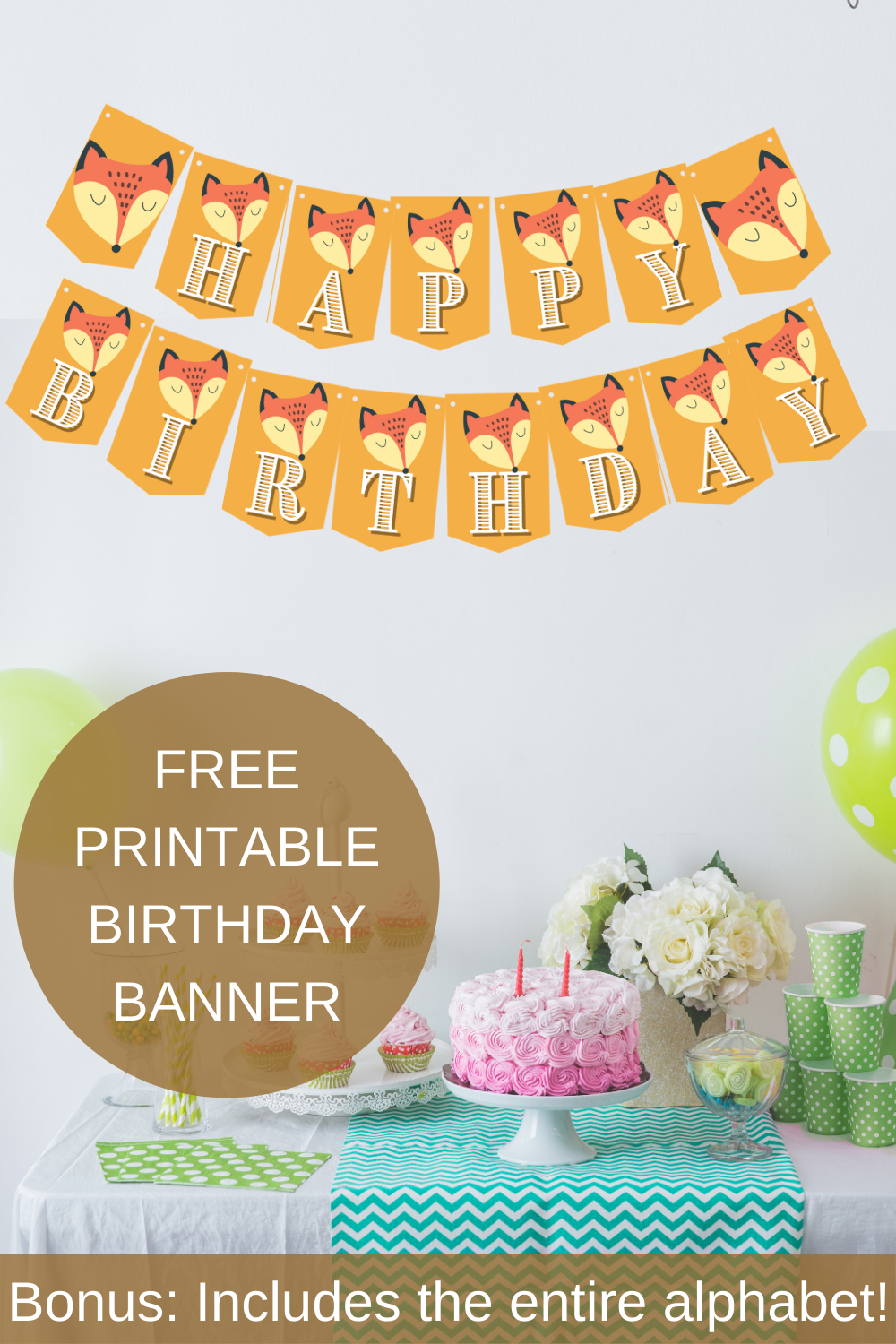 rustic themed banner for a 1st birthday party