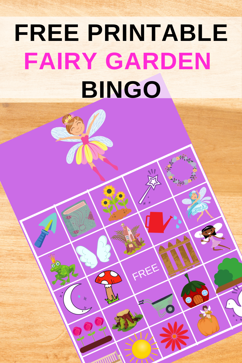 Fairy Garden Party Game for a little girls birthday party
