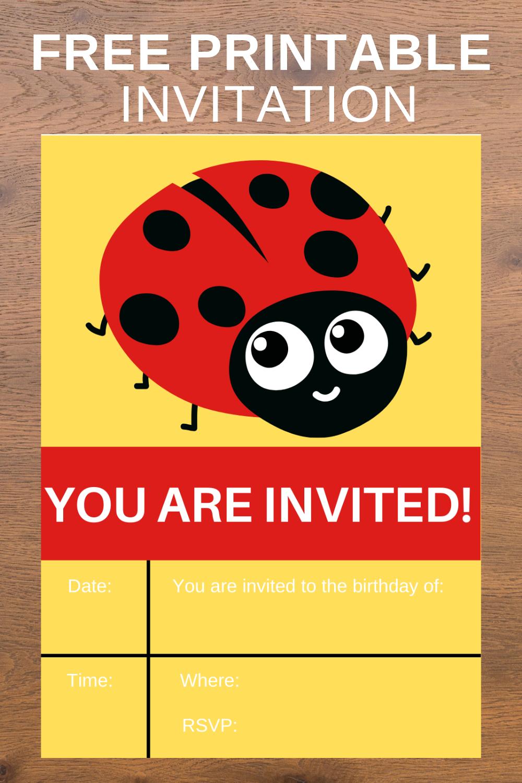 1st birthday party ladybug free printable ideas
