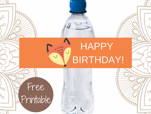 FREE Rustic Birthday Water Bottle Label Template