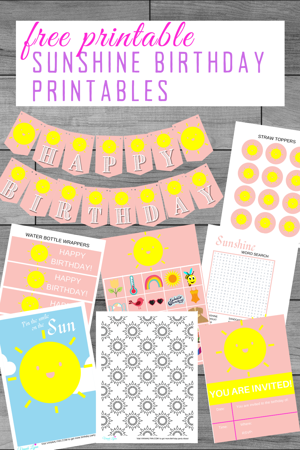 sunshine themed birthday party ideas for kids party