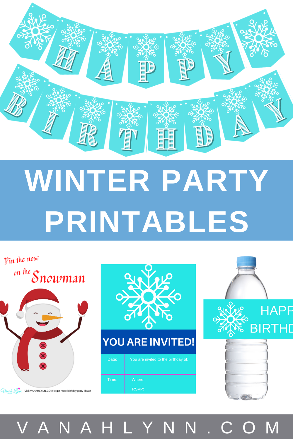 free printable ice queen party kit