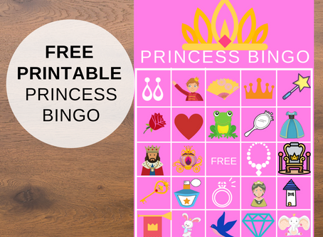 Princess Bingo | Free Printable Party Game