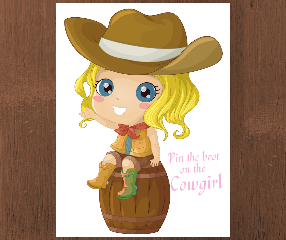 free printable cowgirl birthday party games for kids