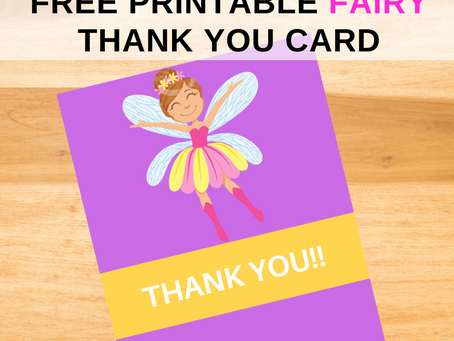 Fairy Garden Thank You Card | Free Printable Fairy Garden Thank You Note | DIY Party Ideas