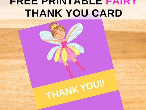 Fairy Garden Thank You Card | Free Printable Fairy Garden Thank You Note | DIY Party Ideas