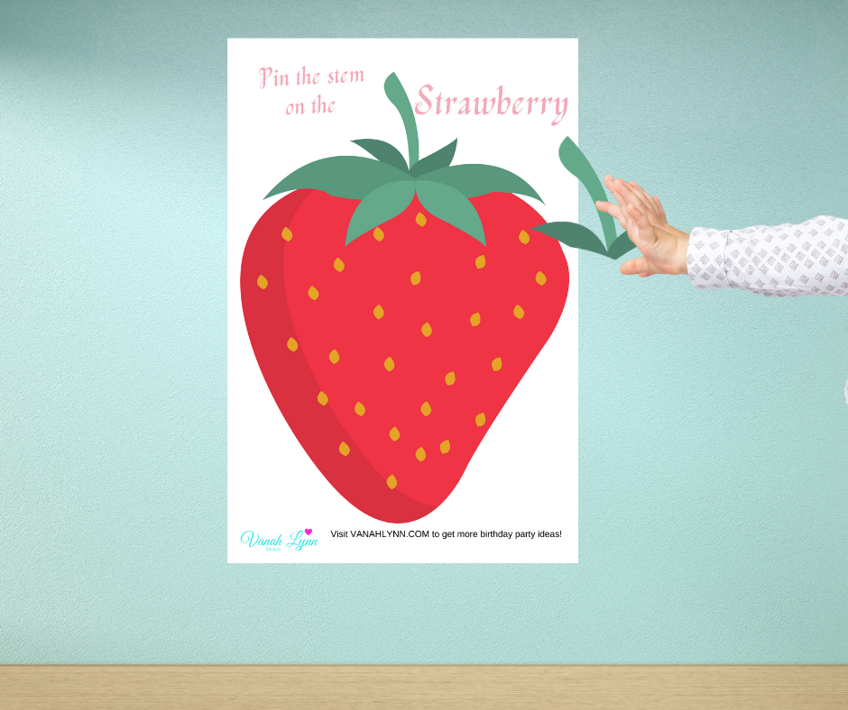 free printable strawberry birthday party games for kids