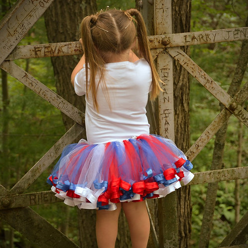 4th of july tutu skirt on a small child
